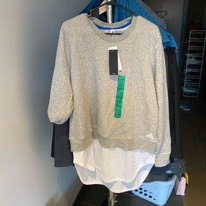 BNWT adidas layer sweatshirt xl women's